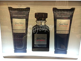 Adolfo Domínguez Lote hombre agua fresca colonia 120 ml + after shave 100 ml + GEL baño 100 ml *navidad* 1 lote