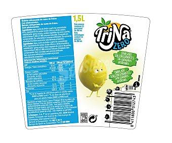 TRINA Refresco de limón sin gas y sin azúcar Botella de 1,5 Litros