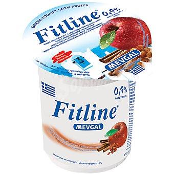 MEVGAL yogur griego con trozos de manzana y canela tarrina 500 g