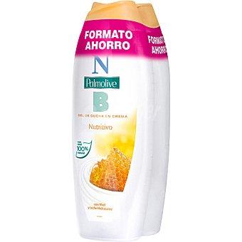 NB PALMOLIVE Gel de baño nutritivo en crema con miel y leche hidratante 2 botes de 600 ml