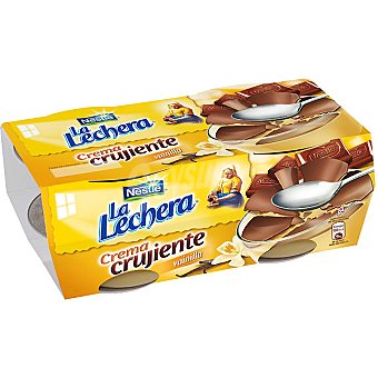 La Lechera Nestlé Crema crujiente de vainilla Pack 4x90 g