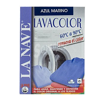 La Nave Tinte ropa lava y tiñe azul Caja 4 sobres