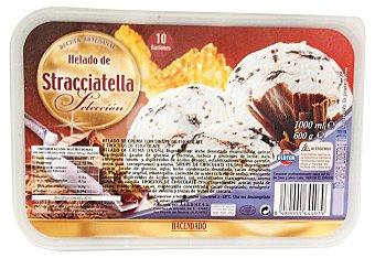 Hacendado Helado tarrina de stracciatella  Tarrina 600 g (1 l)