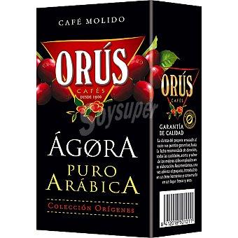 ORUS Ágora Café natural molido de Colombia 100% puro arábica Paquete 250 g