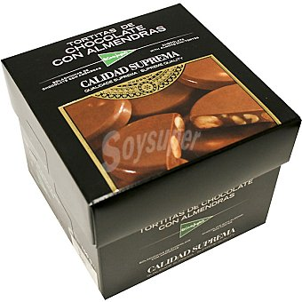 El Corte Inglés Tortitas de chocolate con almendras Estuche 100 g