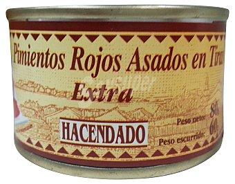 Hacendado Pimiento asado tiras conserva 3 latas de 60 g