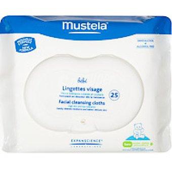 MUSTELA Toallitas faciales Paquete 25 unid
