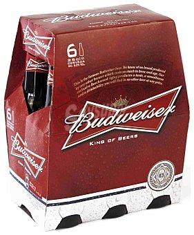 Budweiser Cerveza americana Pack 6x25 cl