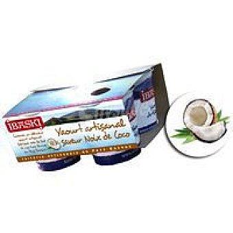 IBASKI Yogur de coco Pack 4x125 g