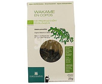 Porto Muiños Wakame deshidratado en copos de producción ecológica 25 gr