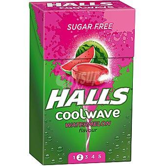 Halls Sandía caramelos sin azúcar Coolwave Envase 112 g
