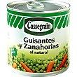 Guisantes y zanahorias muy finos al natural Lata 265 g neto escurrido Cassegrain