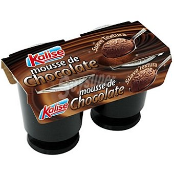 Kalise Mousse de chocolate Pack 2 unidades 100 g