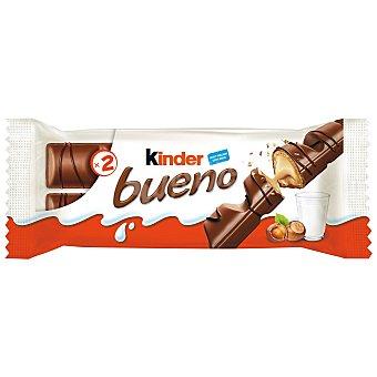 Kinder Bueno Barritas de chocolate con leche y crema de avellana 2 paquetes de 43 g