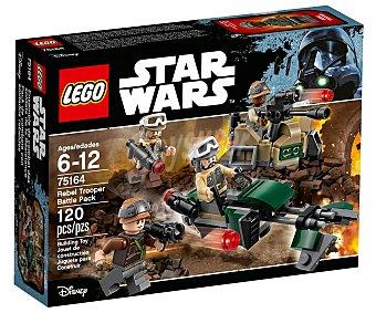 LEGO Star Wars Juego de construcciones con 120 piezas Pack de combate con soldados rebeldes, Star Wars 75164 lego