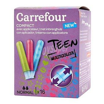 Carrefour Tampones compactos normal con aplicador 16 ud