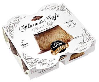 El Nostre Flan de café cocido al baño Maria y elaborado sin gluten 4 x 110 g
