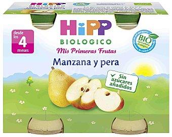 HiPP Biológico Tarrito de manzana y pera Pack de 2x125 g