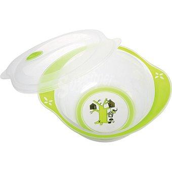 TIGEX Bol con tapa Bebe Gourmet para microondas +3 meses blister 1 unidad 1 unidad