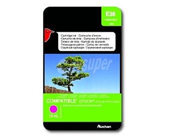 Auchan Cartucho Amarillo T0553 (E 36) - Compatible con impresoras: epson Stylus Photo R240 / R245 / RX420 / RX425 / RX520