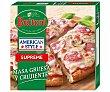 Pizza con masa estilo americana, de peperoni, jamón y champiñon butioni American style 425 g. 425 g Buitoni American Style