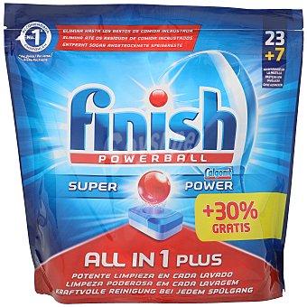 Finish Lavavajillas máquina todo en uno plus powerball en cápsulas Bolsa 30 uds