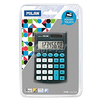 nn Calculadora Escolar Milan Pocket Touch Color Negro