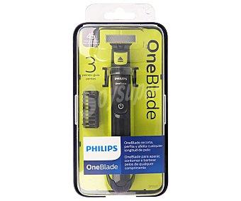 Philips One Blade QP2520/20 recortador de barba 3 peines blister 1 unidad recorta perfila y afeita cualquier longitud de pelo Blister 1 ud