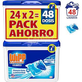 Wipp Express Duo-Caps detergente maquina liqudo quitamanchas activo x24 envase 48 capsulas Pack 2