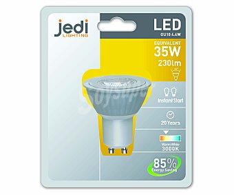 JEDI Foco Led dicroico GU10, 4.4W, Luz Cálida 1 Unidad