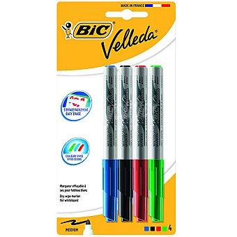 Bic Estuche con 4 marcadores Velleda
