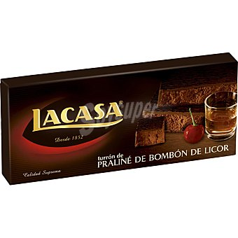 Lacasa Turrón praliné de bombón de licor Tableta 300 g