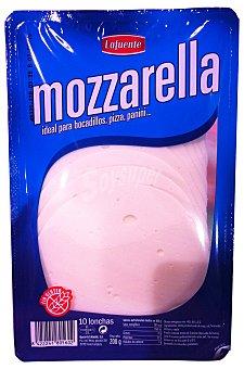 Lafuente Queso barra lonchas mozarella Paquete 200 g