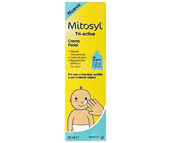 MITOSYL Tri-active Crema facial para bebés, con pieles secas, muy secas, sensibles o con tendencia atópica MYTOSIL Tri-active 50 ml. 50 ml