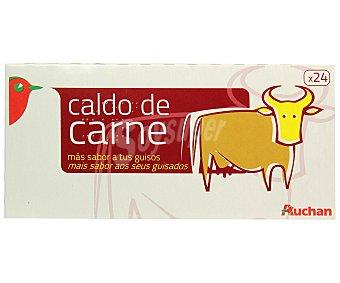 Auchan Caldo de carne 24 pastillas 255 gramos