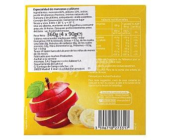 Rik Puré de frutas de manzana y plátano, 360gr
