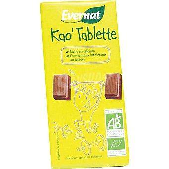Evernat Chocolate con calcio sin lactosa ecológico Envase 100 g