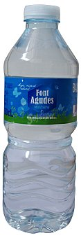 FONT AGUDES Agua mineral natural Botellin 500 cc
