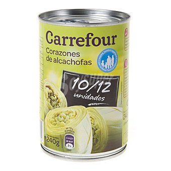 Carrefour Corazones de alcachofas 10/12 piezas 240 g