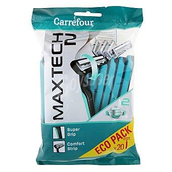 Carrefour Maquinilla desechable pivotante bimaterial 20 ud