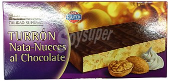Hacendado Turron nata-nueces al chocolate Pastilla 300 g