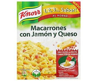 Knorr Sazonador Macarrones Jamón y Queso 1,2,3.. Sabor! 28 Gramos