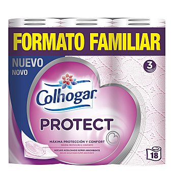 Colhogar Papel higiénico triple capa 18 rollos
