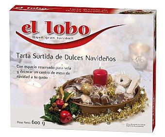 El Lobo Tarta con dulces surtidos navideños,, r 600g