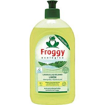 Froggy Lavavajillas a mano concentrado bálsamo limón ecológico Botella 500 ml