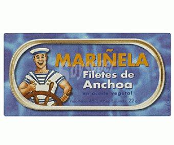 Mariñela Filetes de Anchoa en Aceite Vegetal 45g