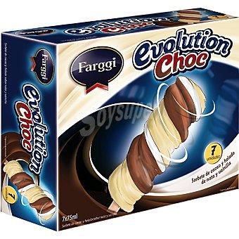 FARGGI Evolution Choc sorbete de cacao y helado de nata y vainilla estuche 535 ml 7 unidades