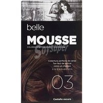 N.3 belle & PROFESSIONAL Tinte mousse cast. oscuro Pack 1 unid