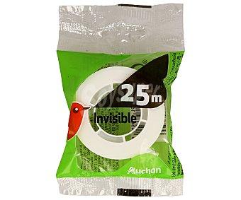 Auchan Cinta adhesiva invisible de 18 milímetros y 25 metros auchan