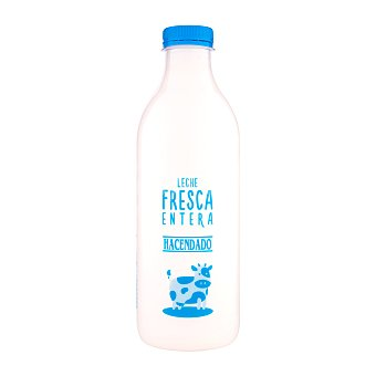 Hacendado Leche entera fresca pasteurizada Botella de 1 litro